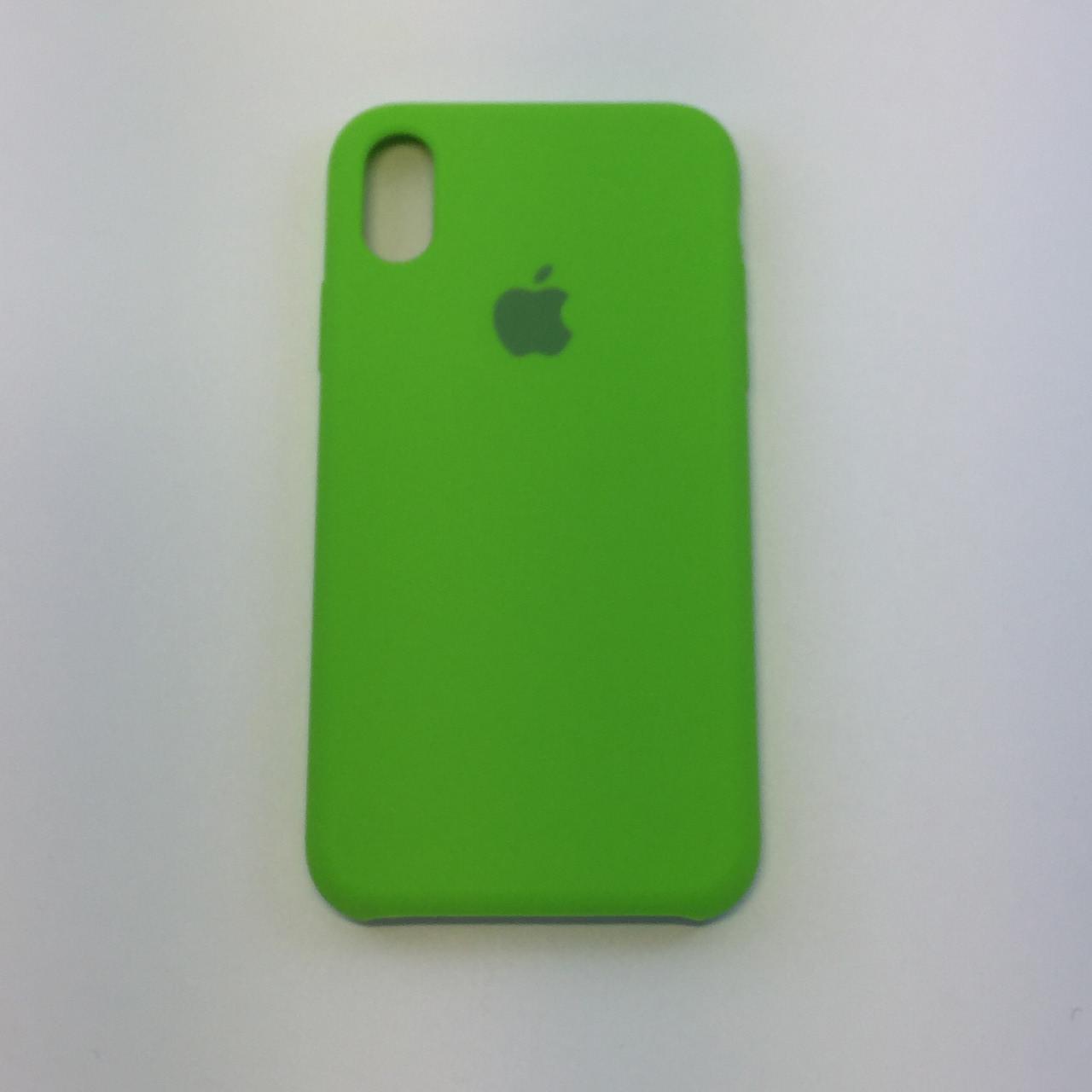 Силиконовый чехол для iPhone X, - «лайм» - copy original