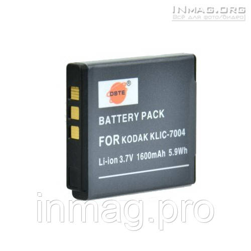 Аккумулятор для фотоаппарата Kodak KLIC-7004, 1600 mAh.