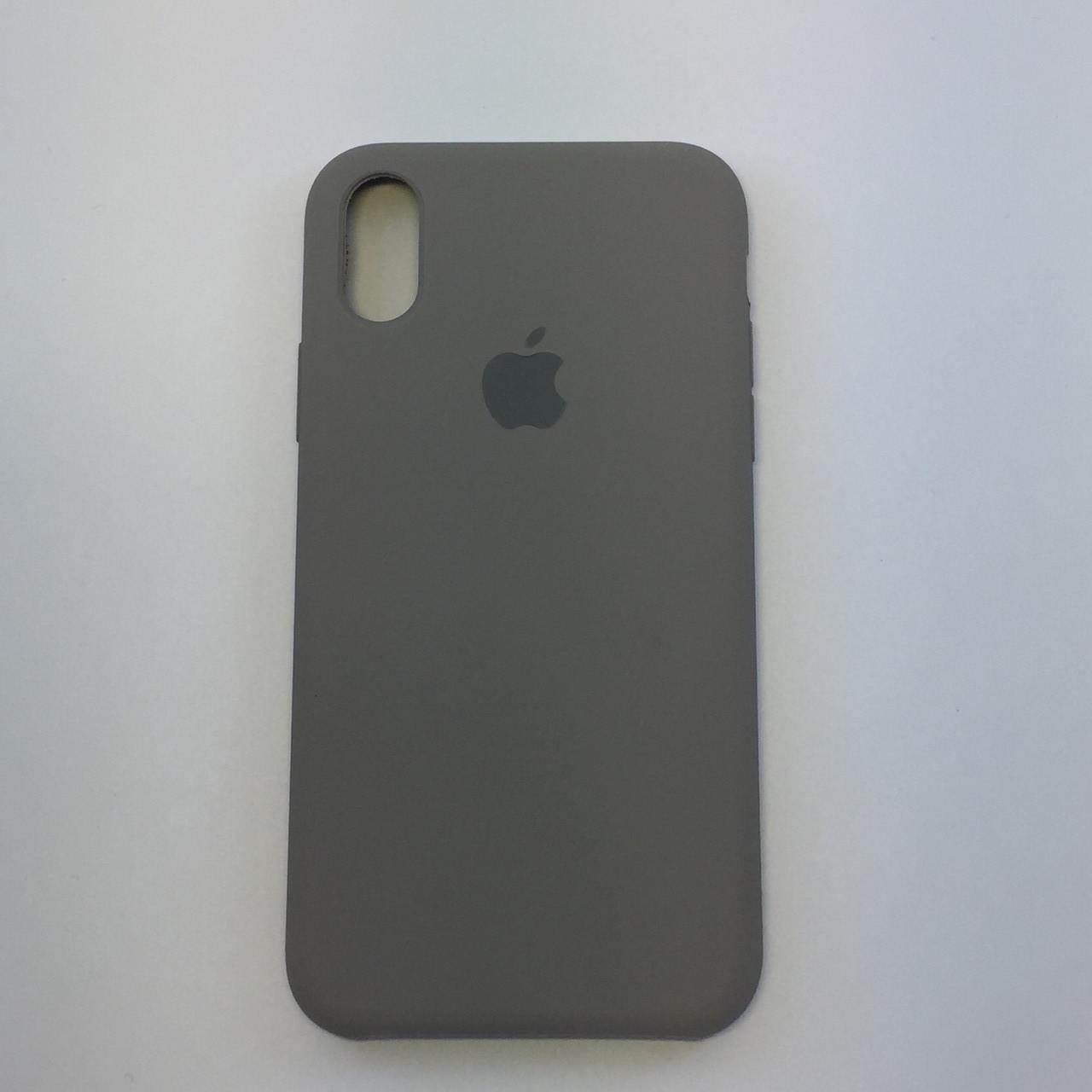 Силиконовый чехол для iPhone X, - «темная олива» - copy original