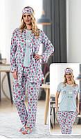 Пижама женская 100% хлопок, пижама 5в1. Размеры: 42-44, 44-46, 46-48, 48-50., фото 1