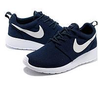 """Кроссовки унисекс Nike Roshe Run """"Синие"""" р. 36-39, 44, фото 1"""