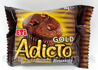 Кекс-брауни Adicto Gold, 50 г