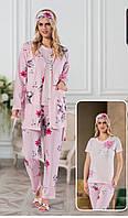 Пижама женская 100% хлопок. Пижама 5в1. Размеры: 42-44, 44-46, 46-48, 48-50.