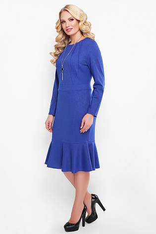 Платье с люрексом больших размеров Роми сапфир, фото 2