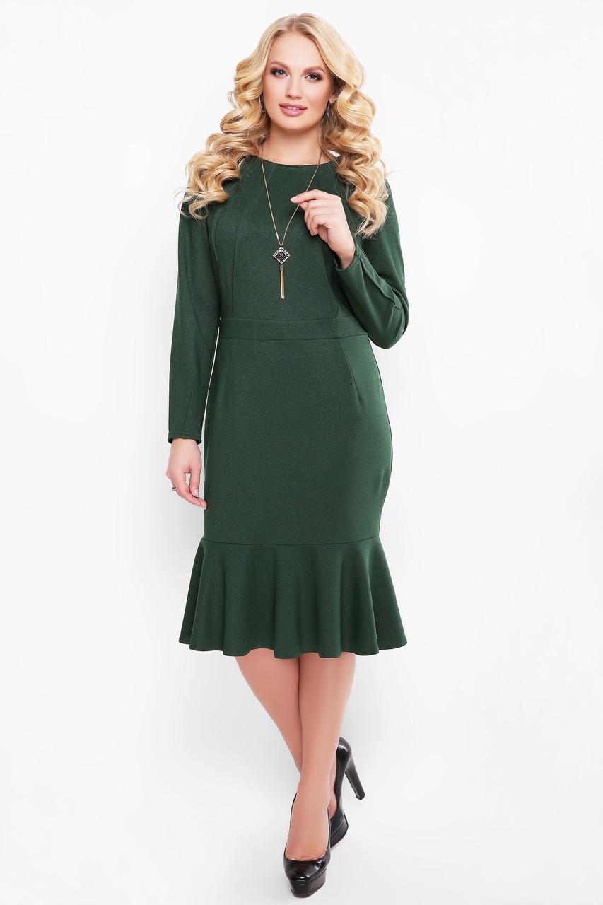 Зелену сукню з люрексом для повних Ромі
