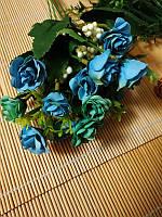 Букет мелких роз с добавкой. Голубой, фото 1