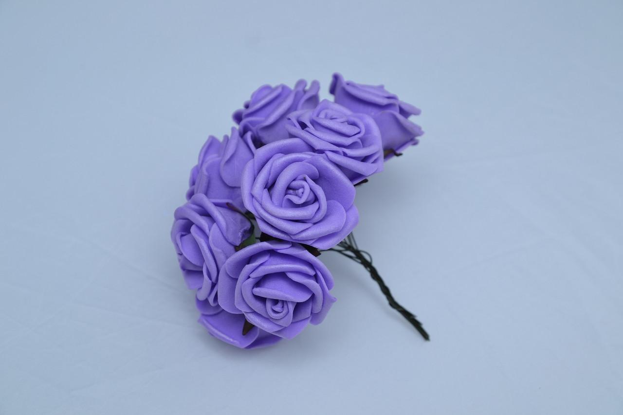 Голова розы латекс маленькая (100 шт./ уп.) Искусственные цветы оптом