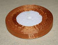 Лента органза 950 светло - коричневая 12 мм, фото 1