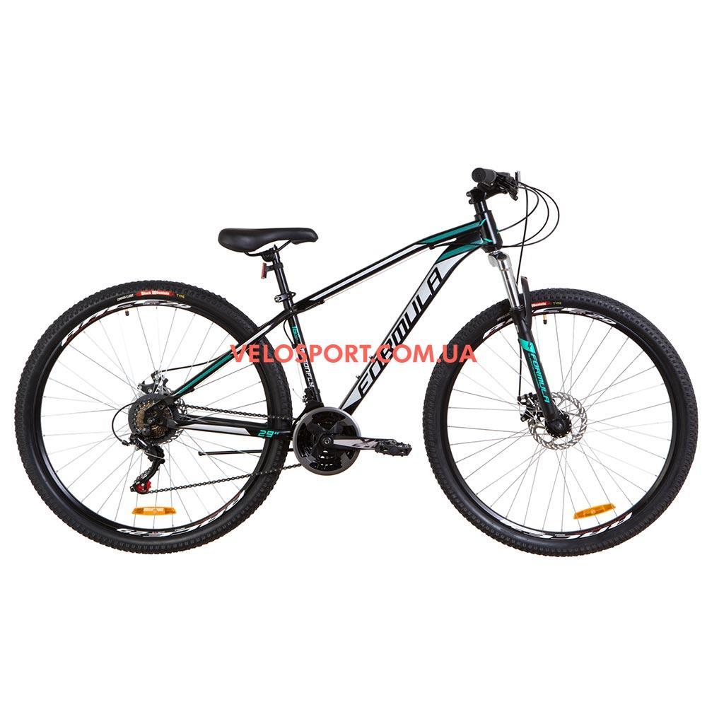 Горный велосипед Formula Dragonfly DD 29 дюймов черно-бирюзовый