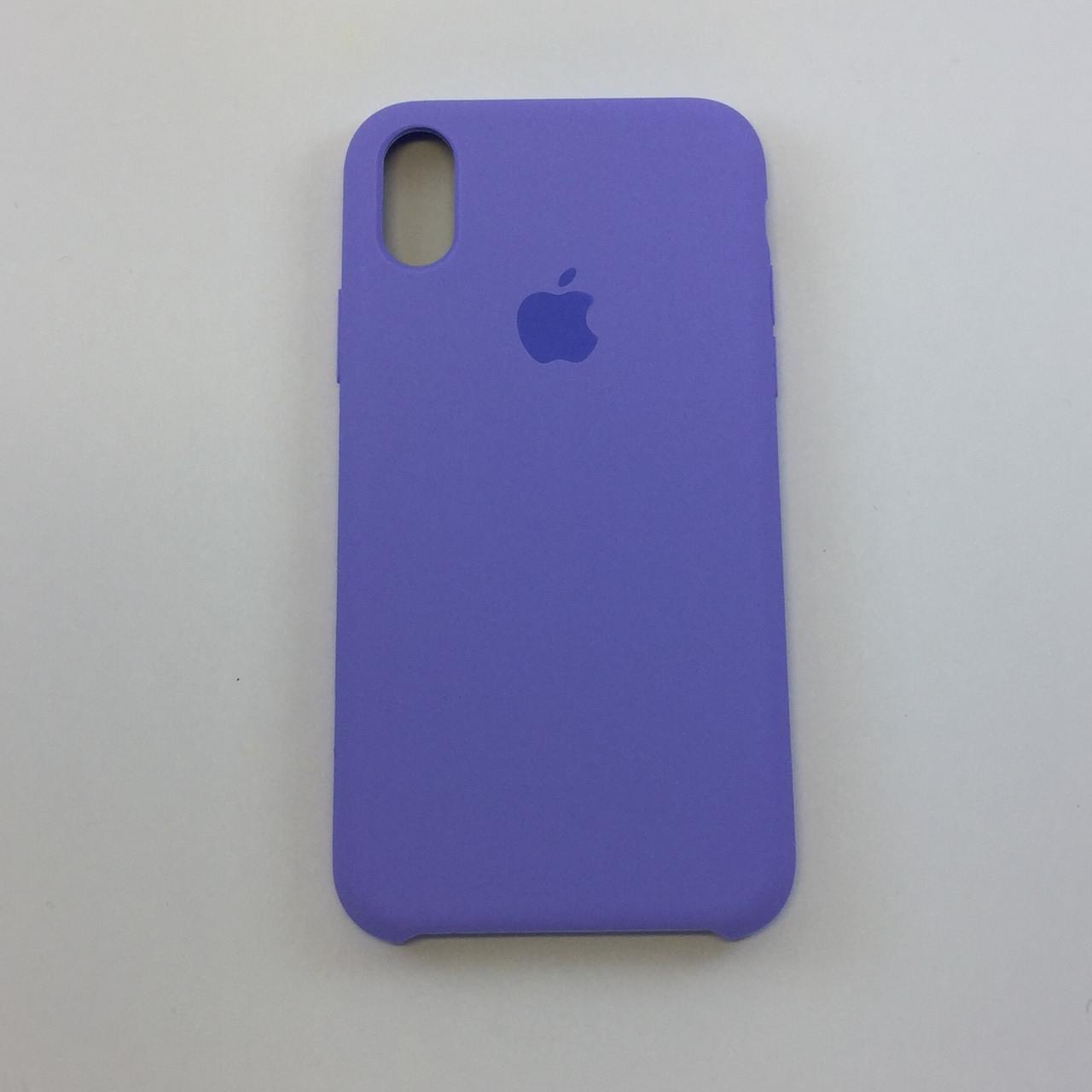 Силиконовый чехол для iPhone X, - «сирень» - copy original