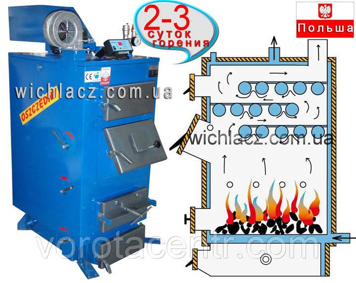 Твердотопливный котел  длительного горения «WICHLACZ» 38 кВт (Польша)