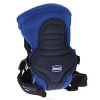 Эрго рюкзак-кенгуру Chicco Soft & Dream голубой, для новорожденных, нагрудная переноска для ребенка.