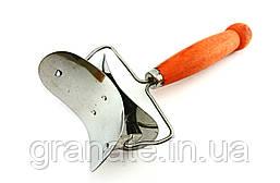 Ролик для нарезки теста кругами, нож для нарезки пельмений и вареников с деревянной ручкой