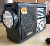 Радиоприёмник для отдыха и путешествий new kanon kn-210, с микрофоном и фонариком, usb/sd-порты, аккумулятор