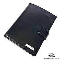 186fc12297d2 Портмоне мужское кожаный с обложкой для паспорта Karya 0913-1 черный