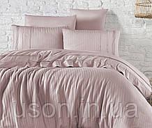 Комплект постельного белья ранфорс de lux First Choice евро размер Nicola pudra