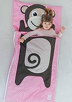 Комплект детского постельного белья слипик Мартышка, размер M, 140х70 см, для деток до 4 лет
