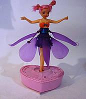 Фея на с функцией полёта, порхает до 9-ти минут, быстро заряжается от подставки, питание 6*аа, flying fairy