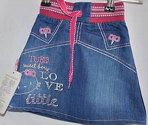 Джинсовые юбки от 1-4 лет.Детская одежда оптом