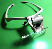 Бинокулярная лупа-очки с подсветкой