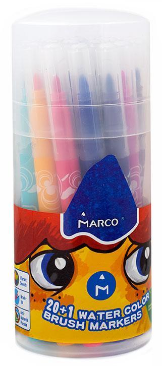 "Фломастеры-кисточка ""Bruch-markers"" 20 цветов Marco 1633-21 PD"