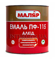 Эмаль ПФ- 115 коричнева Маляр (0,8 кг)
