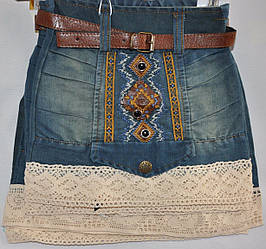 Джинсовые юбки от 3-6  лет.Детская одежда оптом