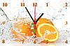 """Настенные часы МДФ кухонные """"Апельсины в воде"""" кварцевые"""