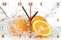 """Настенные часы МДФ кухонные """"Апельсины в воде"""" кварцевые, фото 1"""