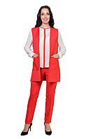 Женский костюм  сильный, модный Стелла 4023  в стиле Леди Лайк деловой  размеров от 46 до 52 ,   купить
