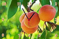 "Настенные часы МДФ кухонные ""Абрикос на ветке"" кварцевые, фото 1"