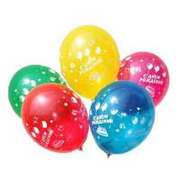 Воздушные шары Шелкография С днем Рождения ассорти