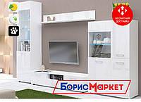 Гостиная Emily 1 MatroLuxe с фасадом из МДФ белой глянцевой пленкой