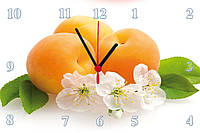 """Настенные часы МДФ кухонные """"Абрикоски"""" кварцевые, фото 1"""