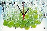 """Настенные часы МДФ кухонные """"Виноградная гроздь"""" кварцевые, фото 1"""