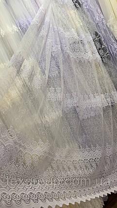 Тюль фатин белый IST-2136, фото 2