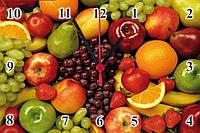 """Настенные часы МДФ кухонные """"Натюрморт фруктовый"""" кварцевые, фото 1"""