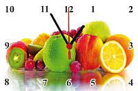"""Настенные часы МДФ кухонные """"Тропическая свежесть"""" кварцевые, фото 1"""