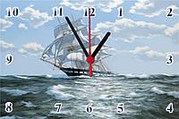 """Настенные часы МДФ  """"Под парусами"""" кварцевые, фото 1"""
