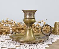 Настольный подсвечник бронзовый, ночник, бронза, Англия, фото 1
