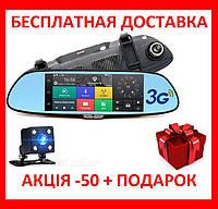 """Зеркало заднего вида регистратор D35 / K35  7"""" сенсор Original 2 камеры, GPS навигатор, WiFi, 8Gb, Android, 3G"""