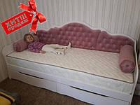 """Кровать односпальная детская """"Л-6"""" с мягкой спинкой лучшее Качество Lion, фото 1"""