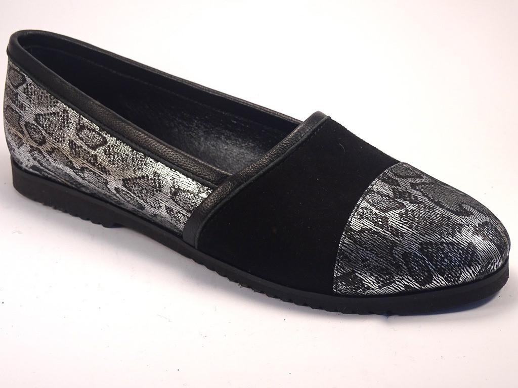 Слипоны мокасины серебро кожаные Sei stupenda Silver Leo by Rosso Avangard