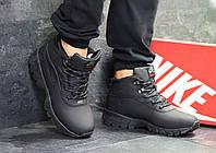 78012b45 Мужские зимние кроссовки в стиле Nike Lunarridge. Черные. Код товара: Д -  6529