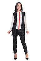 Женский костюм  сильный, модный Стелла 4023  в стиле Леди Лайк размеров от 46 до 52 ,   купить
