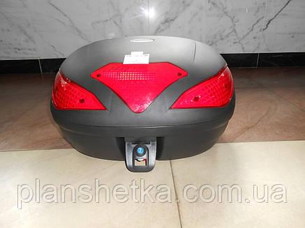 Кофр для мотоцикла (2 шлема) HF-885 черный мат, фото 2