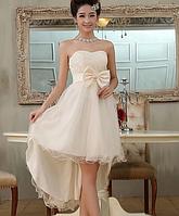 Хорошенькое, платье  со средним шлейфом, фото 1