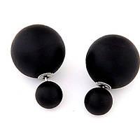Серьги в стиле Mise en Dior черные матовые