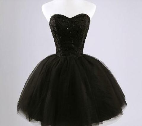 2f25ea31bd11e73 Женское Короткое пышное черное платье. - интернет магазин Eli-stor в  Бердянске