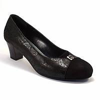 Туфли лодочка женская обувь Pyra Silver Black Lether Scales by Rosso Avangard цвет черный , фото 1